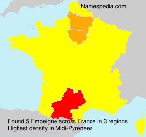 Surname Empeigne in France