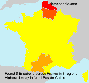 Surname Ensabella in France