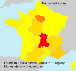 Surname Equille in France