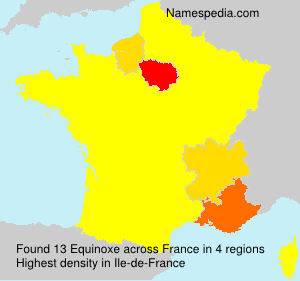 Surname Equinoxe in France