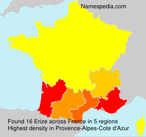 Surname Erize in France