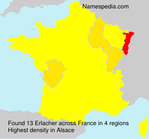 Surname Erlacher in France