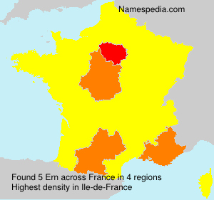 Surname Ern in France