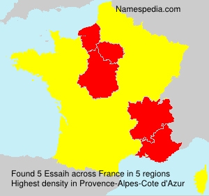 Surname Essaih in France