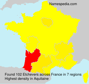 Surname Etchevers in France