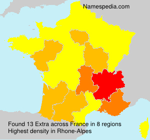 Surname Extra in France