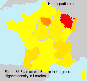 Surname Faas in France