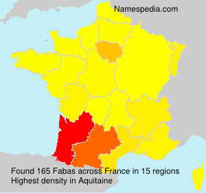 Surname Fabas in France