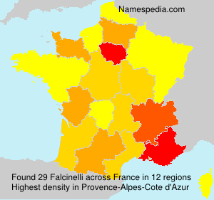 Surname Falcinelli in France
