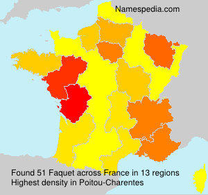 Surname Faquet in France