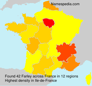 Surname Farley in France