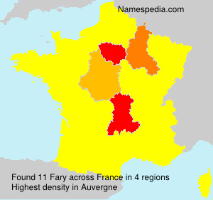 Surname Fary in France