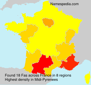Surname Fas in France