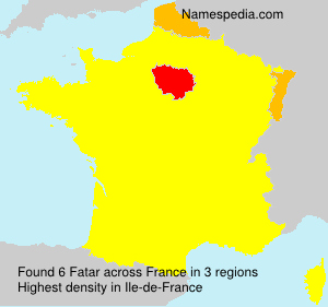 Surname Fatar in France