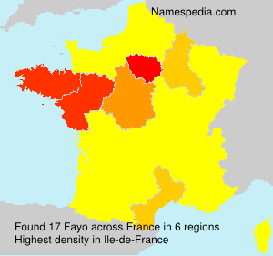 Surname Fayo in France