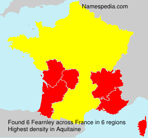 Surname Fearnley in France