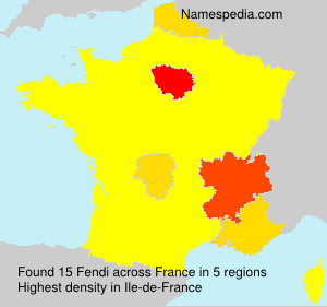 Surname Fendi in France