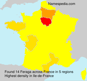 Surname Feraga in France
