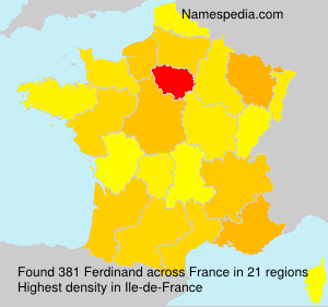 Surname Ferdinand in France