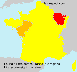 Surname Fero in France