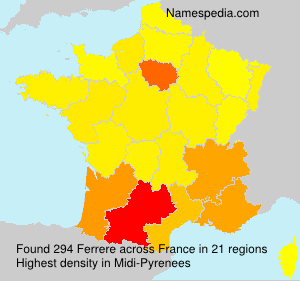 Surname Ferrere in France