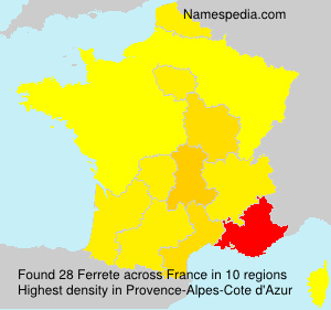 Surname Ferrete in France