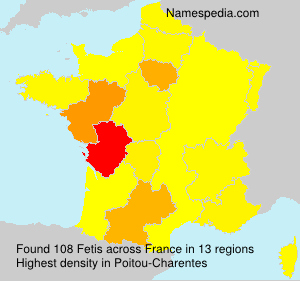 Surname Fetis in France