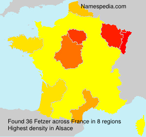 Surname Fetzer in France