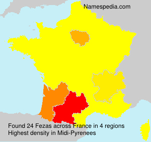 Surname Fezas in France
