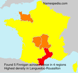 Surname Finnigan in France