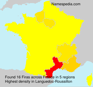 Surname Firas in France