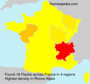 Surname Flache in France