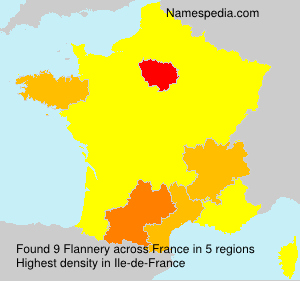 Surname Flannery in France