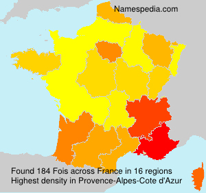 Surname Fois in France