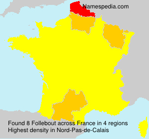 Surname Follebout in France