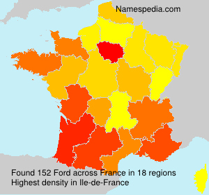 Surname Ford in France