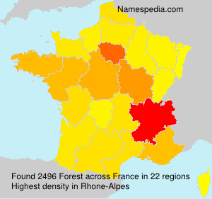 Surname Forest in France