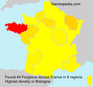 Surname Forgeoux in France