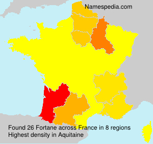 Surname Fortane in France