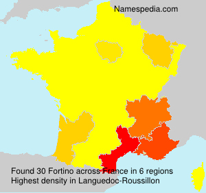 Surname Fortino in France