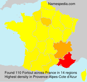 Surname Fortoul in France
