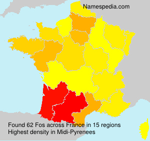 Surname Fos in France