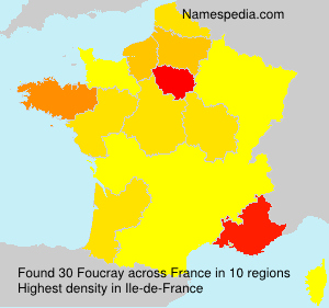 Surname Foucray in France