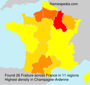 Surname Fraiture in France