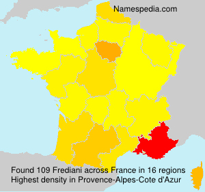 Surname Frediani in France