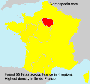 Surname Friaa in France