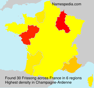 Surname Frissong in France