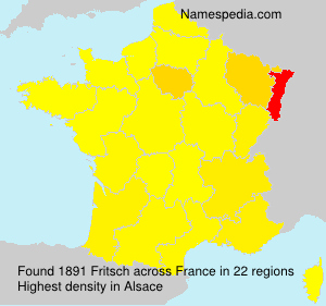 Surname Fritsch in France