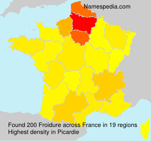 Surname Froidure in France