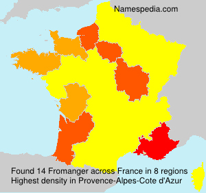 Surname Fromanger in France
